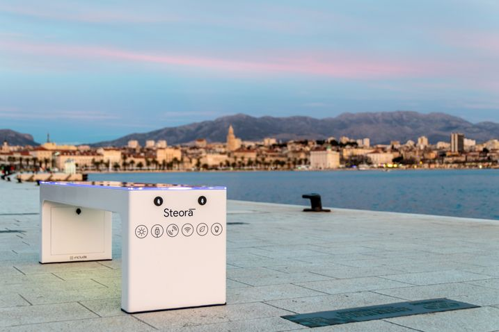 Five Smart Solar Benches Installed in Budva 2
