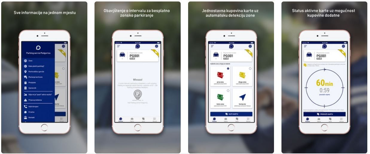 Parking Service Podgorica Launches Mobile Parking Application