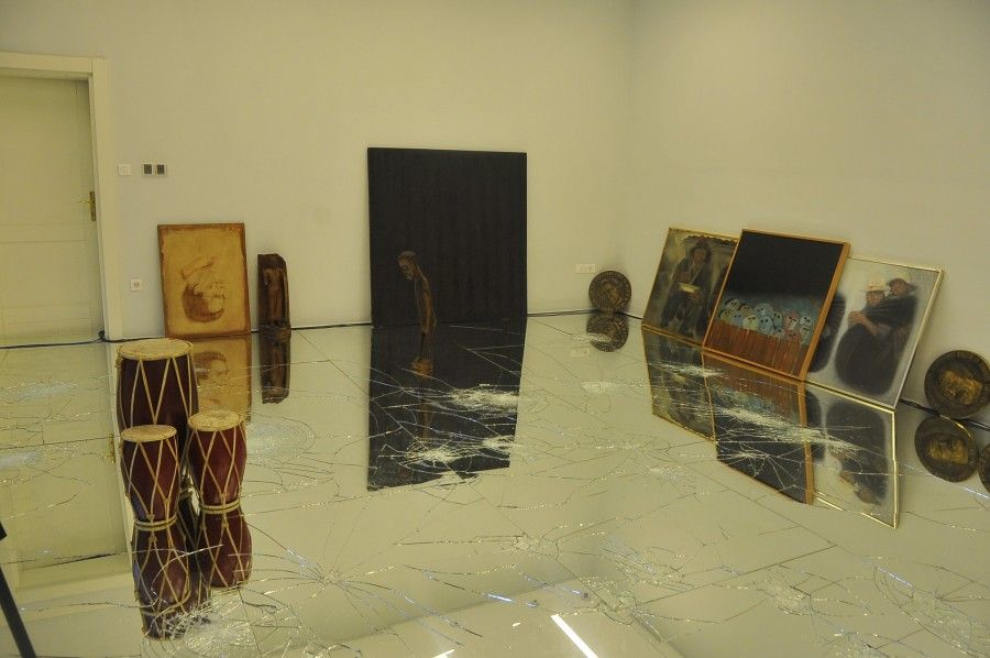 Exhibition Passi by Alfredo Pirri at Centre for Contemporary Art in Podgorica