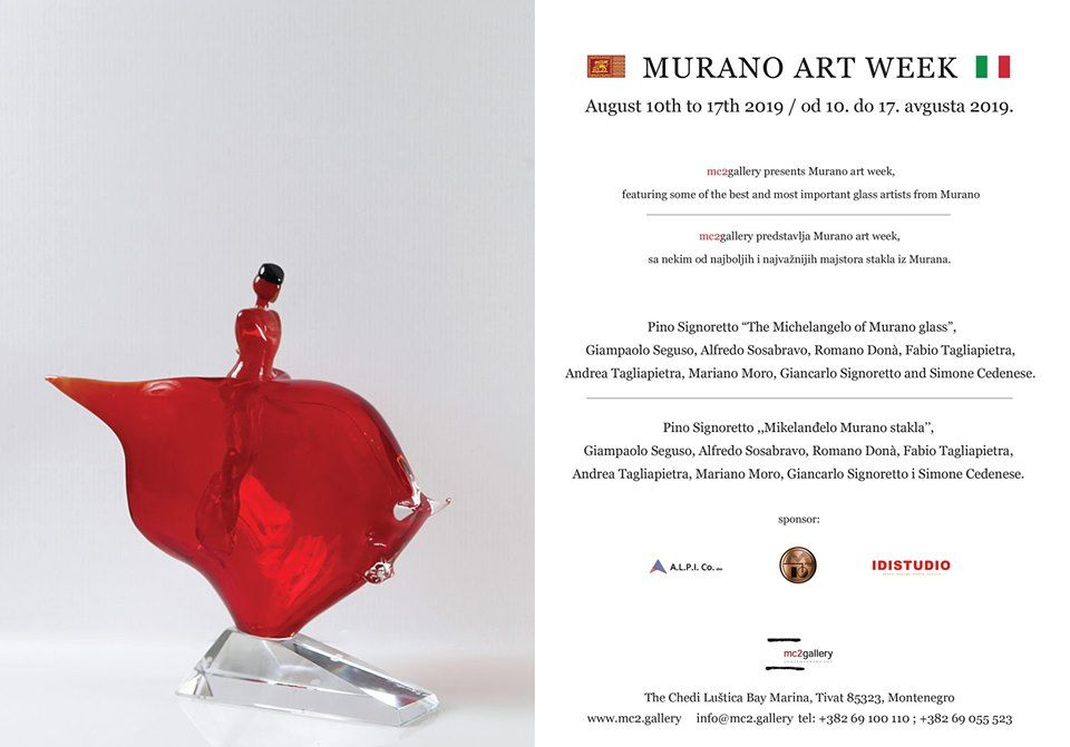Murano Art Week at Luštica Bay Gallery in Tivat