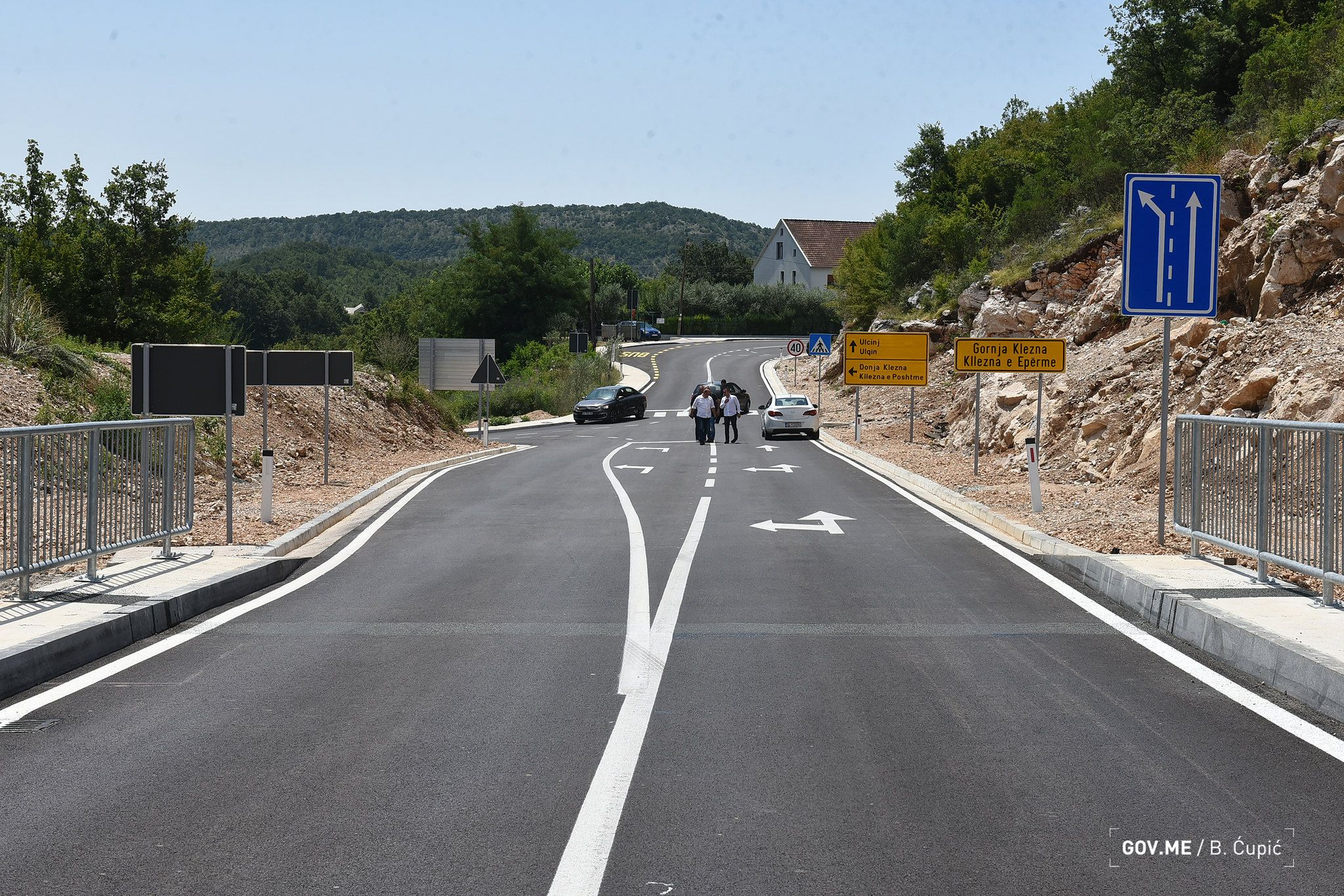 New Road from Ulcinj to Albania Opened Connecting two Countries
