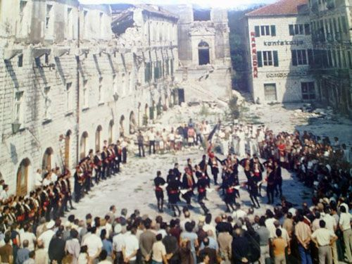 Kotor Boka Navy Dance Square of Arms
