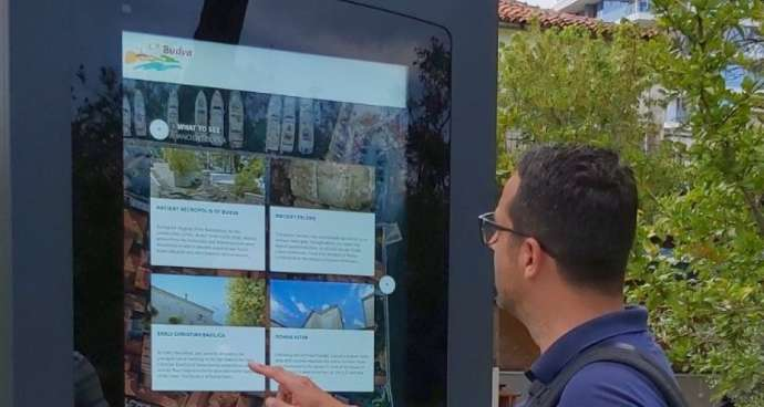 Budva Installs Interactive Info Point Outside Old Town